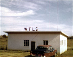 The original WTLS located on Gilmer Avenue in her early days February, 1958. Notice the 300' tower in the background. WTLS was located there for 45 years.