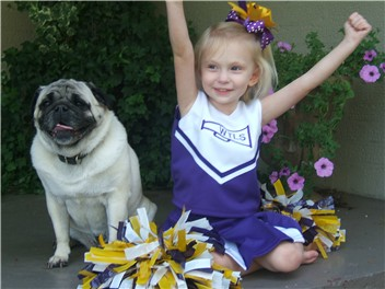 PJ & Georgia Anne cheer for the Tigers!