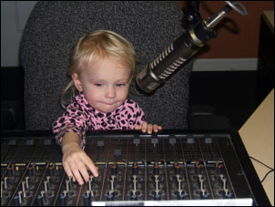 Little Georgia Anne working the controls