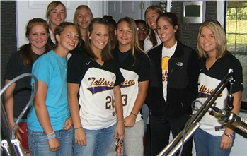 Members of the 2008 Tallassee High School Softball Tigers visit The Wake-Up Call