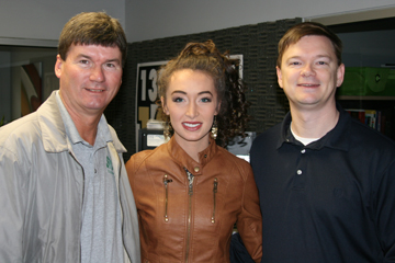 Shane and Michael with country music singer Donica Knight in February, 2013