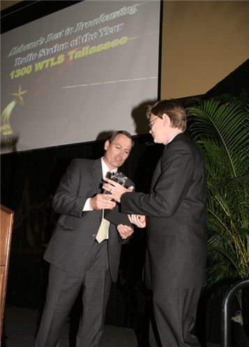 Michael Butler accepting the 2007 Station of the Year Award