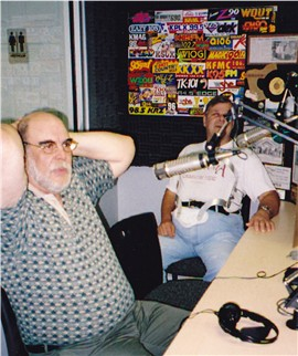 Jack Mitchell at WTLS with CW for the 50th anniversary in 2004