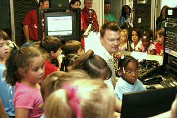 Kindergartners from Tallassee Elementary during a field trip to WTLS in 2012