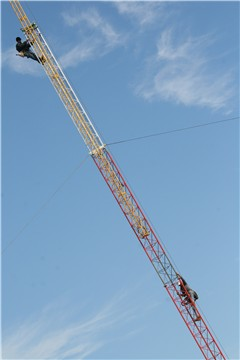 The erection of the new FM tower in 2011